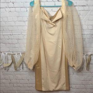 Amekana Dress gold size Large NWT